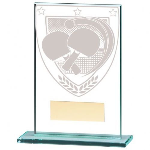 Millennium Table Tennis Jade Glass Award 125mm